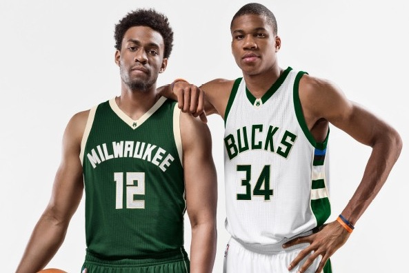 The new uniforms were revealed to those gathered at the Bucks Summer Block  Party on June 6 in Milwaukee. Team president Peter Feigin stood atop a  building ... c9c9c1f0b