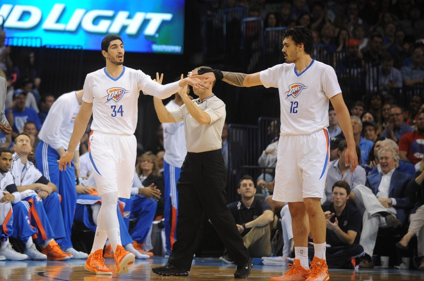 oklahoma city thunder  who should start at center