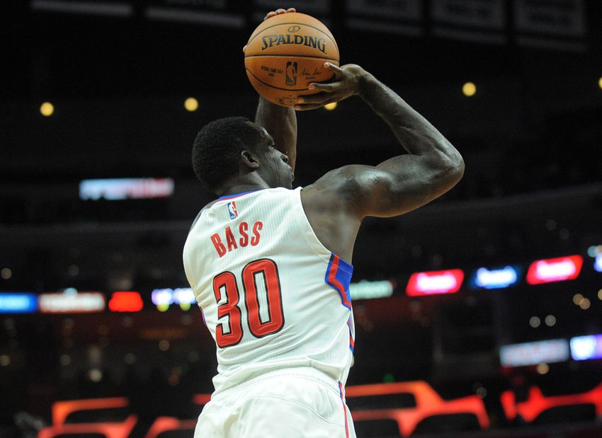 size 40 34093 c3a00 October 13, 2016  Los Angeles, CA, USA  Los Angeles Clippers forward  Brandon Bass (30) shoots a basket against the Portland Trail Blazers during  the second ...