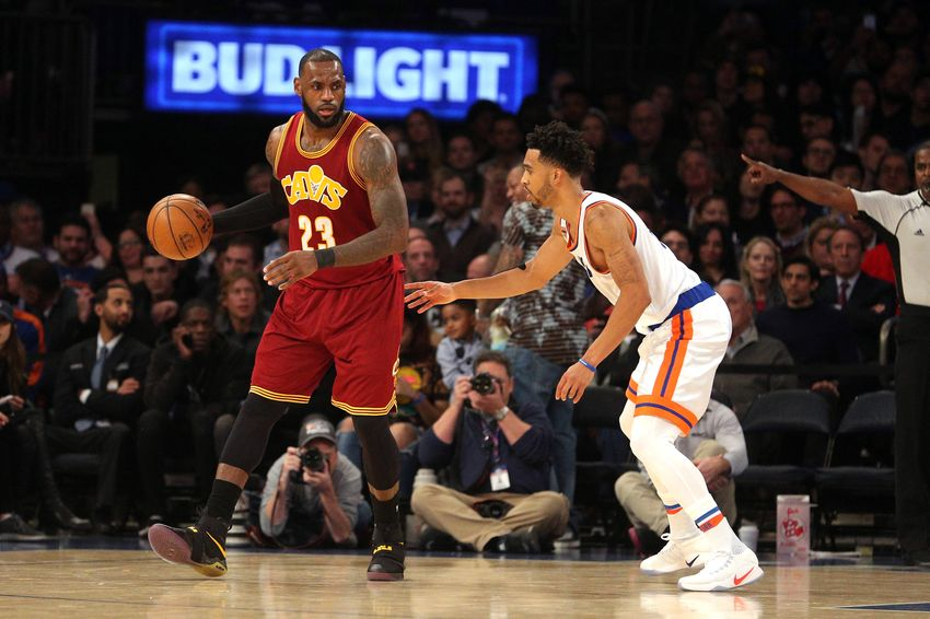official photos 558f4 7165c Dec 7, 2016  New York, NY, USA  Cleveland Cavaliers small forward LeBron  James (23) controls the ball against New York Knicks shooting guard  Courtney Lee ...