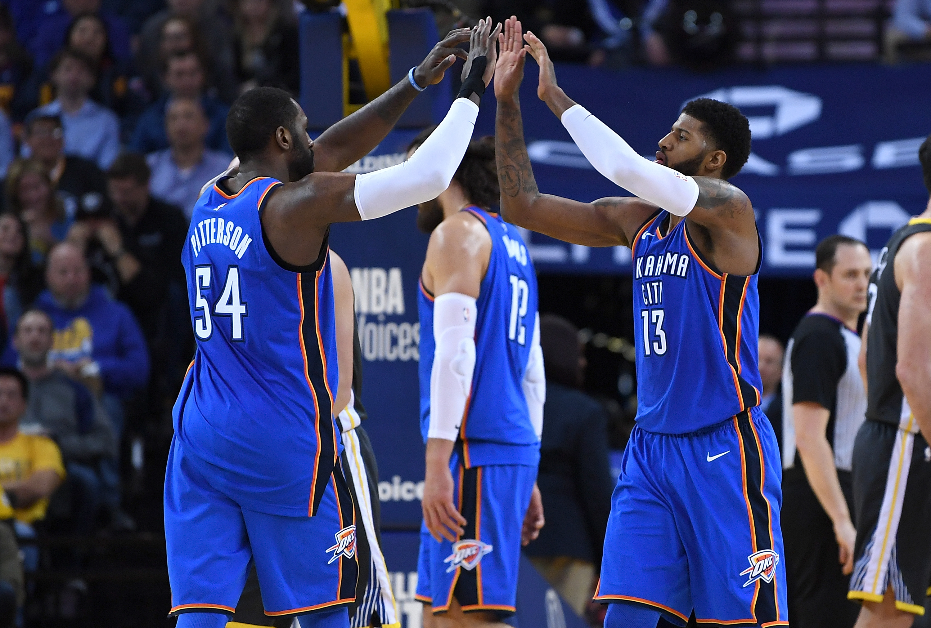 Russell Westbrook, Carmelo Anthony participate in Thunder practice Monday